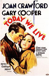 <i>Today We Live</i> 1933 film by Howard Hawks, Richard Rosson