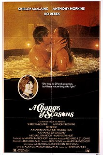 <i>A Change of Seasons</i> (film) 1980 film by Richard Lang