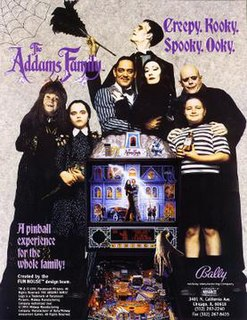 <i>The Addams Family</i> (pinball) 1992 pinball machine adaptation of the 1991 film of the same name and the titular fictional family both are based on