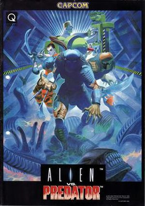 Alien vs. Predator (arcade game) - Arcade flyer