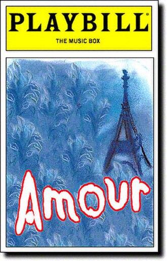 Amour (musical) - 2002 Broadway Playbill