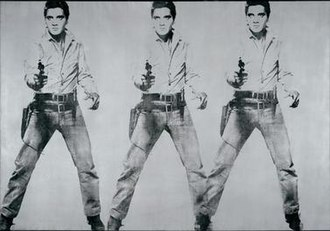 Triple Elvis - Painting from the San Francisco Museum of Modern Art