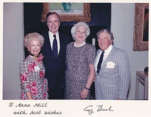 Edgar L. McCoubrey - Anne T. Hill, Edgar L. McCoubrey, George H. W. Bush and Barbara Bush