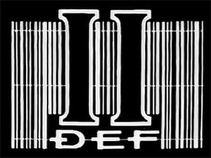 DEF II - DEF II logo, as seen on early transmissions.
