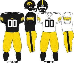 2006 Iowa Hawkeyes football team - Image: Big Ten Uniform Iowa 2006 2008