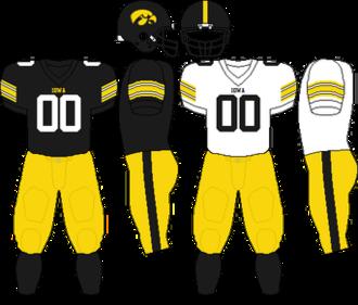 2006 Iowa Hawkeyes football team - Image: Big Ten Uniform Iowa 2006 2008