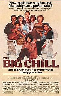 <i>The Big Chill</i> (film) 1983 film by Lawrence Kasdan