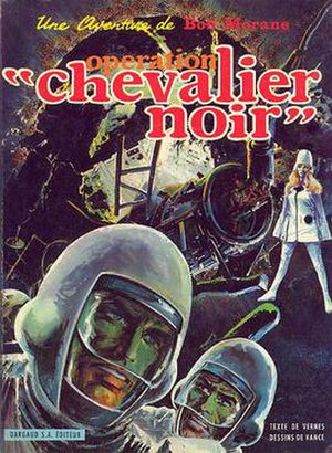 "Bob Morane - Cover of Opération ""Chevalier Noir"" (1969) by Vance"