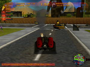 Carmageddon TDR 2000 - Driving around the first level, The Boulevard