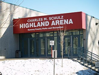 Charles M. Schulz - Charles M. Schulz Highland Arena on Snelling Avenue and Ford Parkway in Saint Paul, Minnesota.