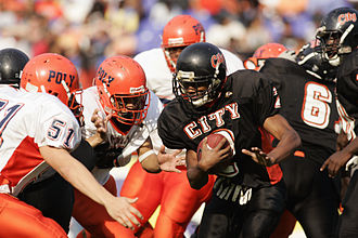 Maryland Public Secondary Schools Athletic Association - MPSSAA member schools and ancient rivals City and Poly clash at M&T Bank Stadium, in downtown Baltimore, November 2007.