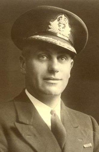 John Treasure Jones - Jones as a Commander RNR RD, 1943