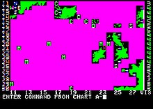 Horizontal rectangle video game screenshot that is a digital representation of the North Atlantic Ocean.