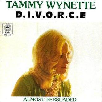 D-I-V-O-R-C-E - Image: D I V O R C E Tammy Wynette