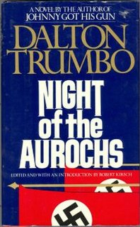 <i>Night of the Aurochs</i> book by Dalton Trumbo