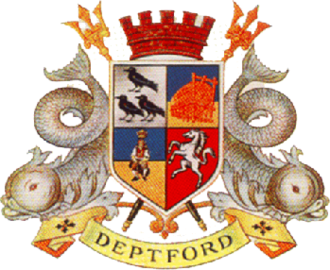 Metropolitan Borough of Deptford - The unofficial arms of the borough