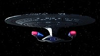 USS Enterprise NCC-1701-D, flagship of the Uni...