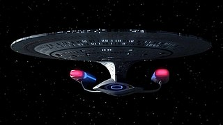USS <i>Enterprise</i> (NCC-1701-D) fictional starship from Star Trek: The Next Generation with registry number NCC-1701-D