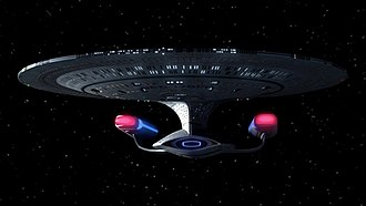 USS Enterprise (NCC-1701-D) - Image: Enterprise Forward