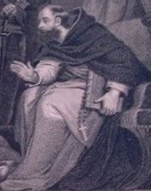 John Feckenham - Detail of Lady Jane Grey and Feckenham - Artist likely Northcote and Engraved by J. Rogers