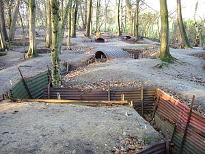 Sanctuary Wood Museum Hill 62 - Image: Hill 62 Museum Tranches Ypres Belgium