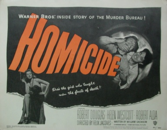 Homicide (1949 film) - Theatrical release poster