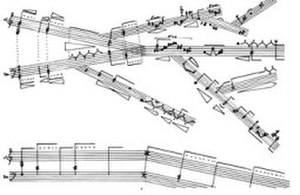 Generative art - Sergio Maltagliati, Iridem for trombone and clarinet, 1983