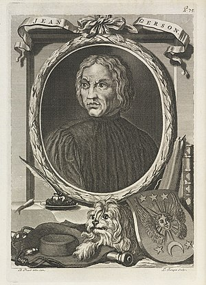 Jean Gerson - Posthumous engraving, by Bernard Picart, 1714