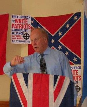 John Tyndall (politician) - Tyndall addressing a Nationalist Alliance meeting in 2005.