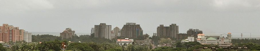 Skyline of seashore apartments, Payyambalam, Kannur
