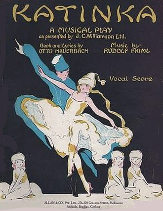 Katinka (operetta) - Cover of the first Australian edition of the vocal score for Katinka (1918)