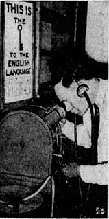 Language Integrator instructional mutoscope stored in the Crypt of Civilization time capsule