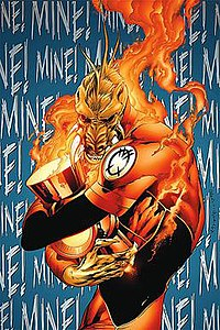 Larfleeze learns the true meaning of Christmas
