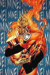 Larfleeze fictional comic book supervillain appearing in books published by DC Comics