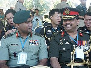 Moosa Ali Jaleel - Retired Maj. Gen Jaleel (then Brig. Gen) at the Pacific Armies Management Seminar in Fiji