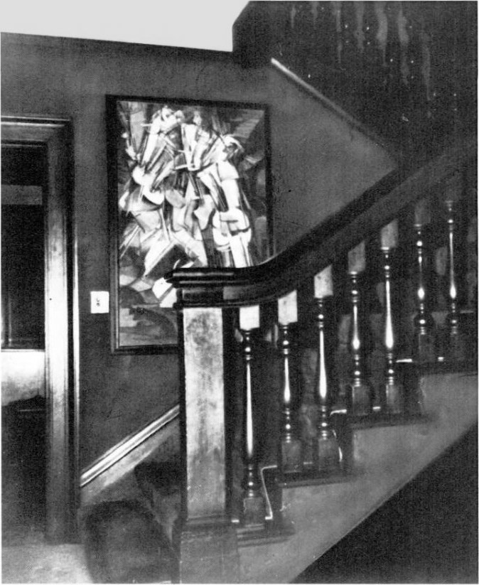 Marcel Duchamp, Nude Descending a Staircase, No. 2, in the Frederick C. Torrey home, c. 1913