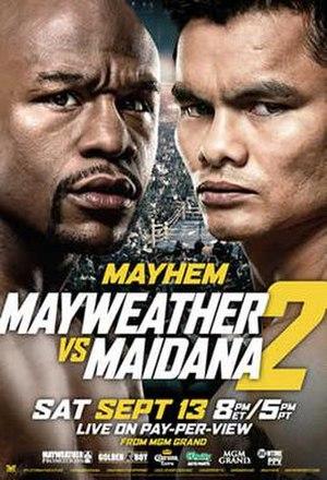 Floyd Mayweather Jr. vs. Marcos Maidana II - Image: Mayweather vs Maidana II