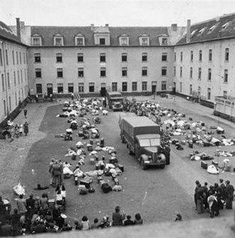 Mechelen transit camp - Image: Mechelen SS Sammellager Dossin Casern