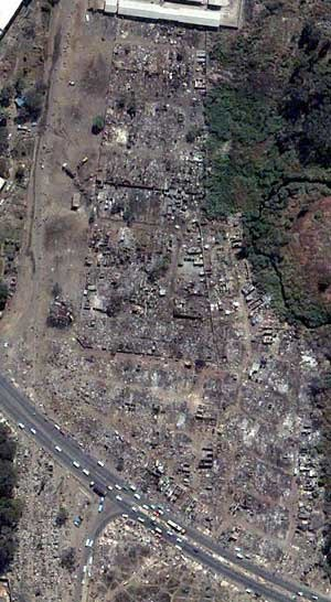 Operation Murambatsvina - Siya-so Home Industries area in Mbare township after Operation Murambatsvina