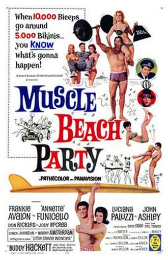 Muscle Beach Party - Image: Muscle Beach Party Poster