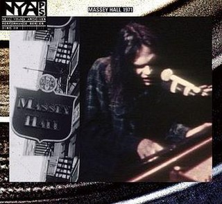 <i>Live at Massey Hall 1971</i> 2007 live album by Neil Young