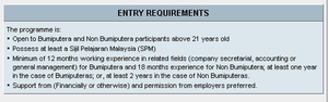 Bumiputera (Malaysia) - Some institutes of higher learning, such as the Open University Malaysia, have enacted admission policies favouring bumiputra students.