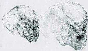 Predator (alien) - Early Predator design concepts by Stan Winston