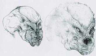 Predator (fictional species) - Early Predator design concepts by Stan Winston