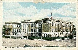 New Brunswick High School - The 1916 NBHS building (before expansions)