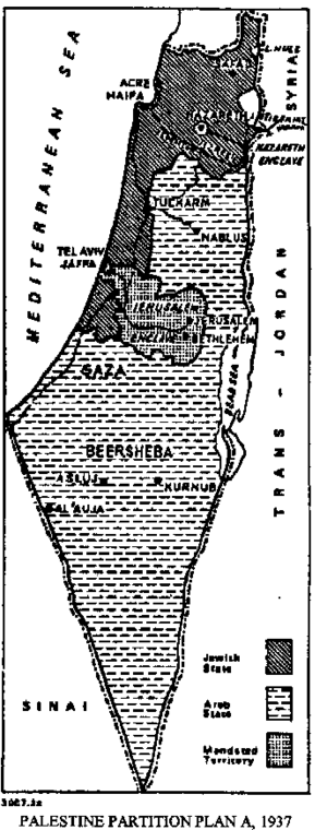History of the State of Palestine - Peel Commission, partition plan A, November 1937