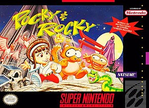 Pocky & Rocky - North American box art