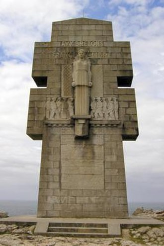François Bazin (sculptor) - Monument to the Bretons of Free France, also known as the Cross of Pen-Hir, located at the Pointe de Pen-Hir
