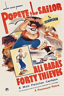<i>Popeye the Sailor Meets Ali Babas Forty Thieves</i> 1937 film directed by Dave Fleischer