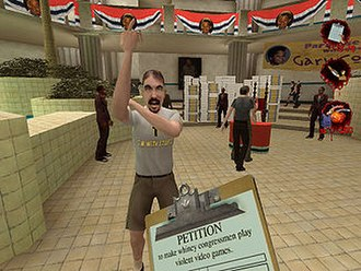 Postal 2 - Interacting with a resident of Paradise